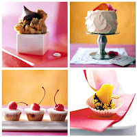 Four enticing sweet desserts