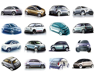 Fiat 500 Design Sketches