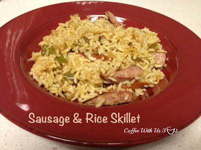 Sausage and Rice Skillet by Coffee With Us 3 #recipes
