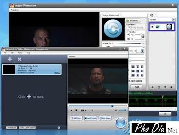 WonderFox Video Watermark - Chèn chử lên Video