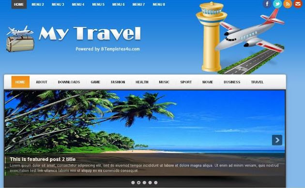MyTravel Blogger Template