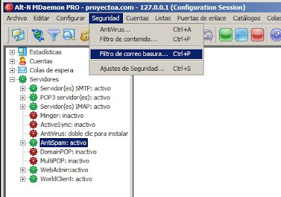 Administración de MDaemon Messaging Server
