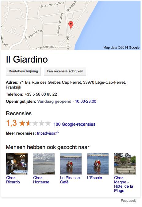 Il Giardino op Google+