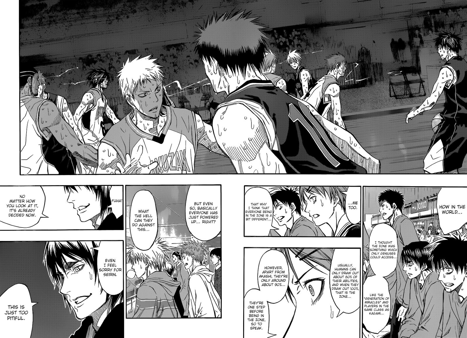 Kuroko no Basket Manga Chapter 268 - Image 08-09
