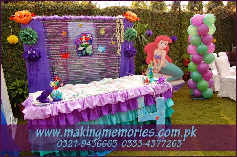 Minions & Little Mermaid Birthday Party Theme, #Decoration ...