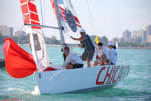 Step Roble and team sailing Chicago Match Race