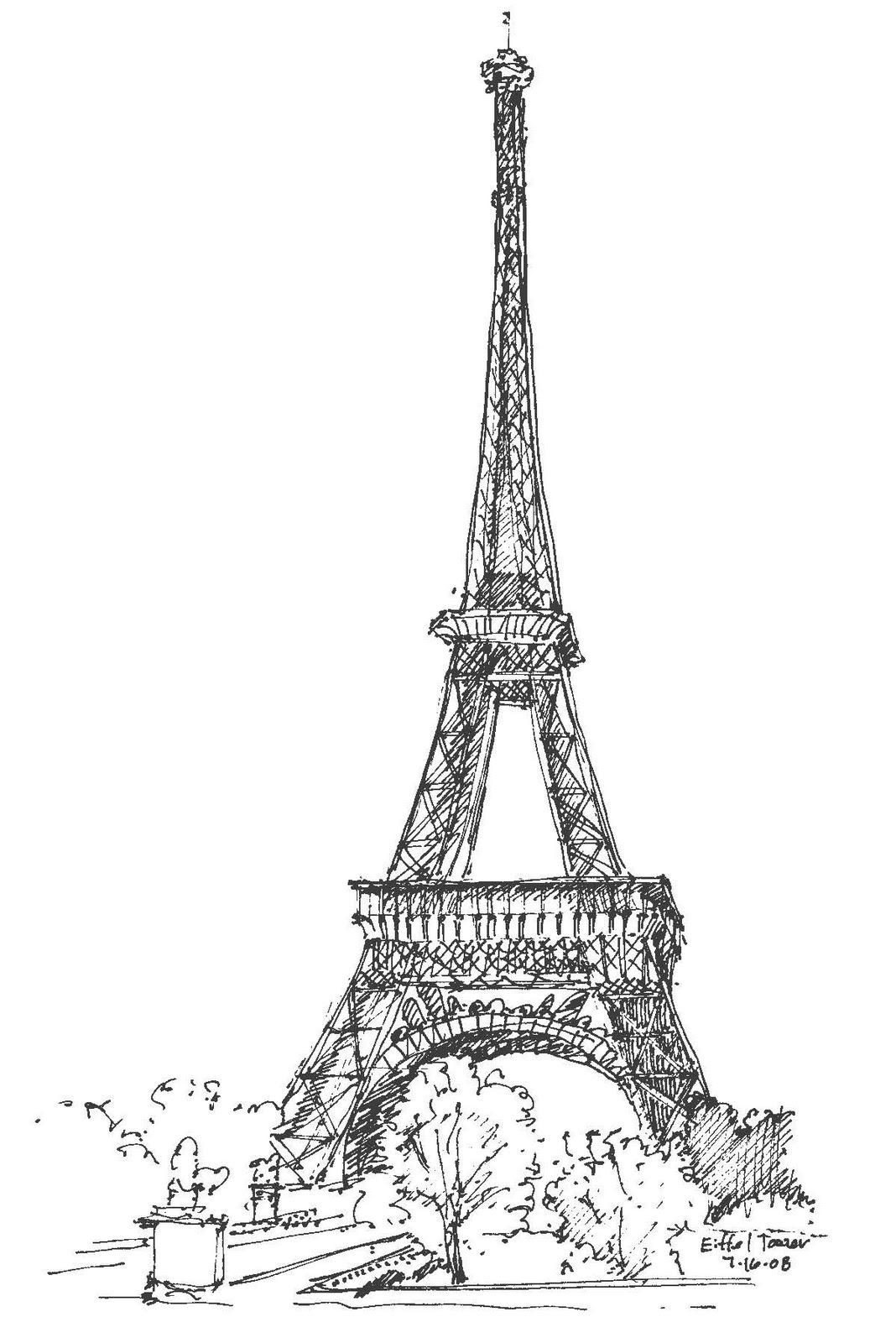 Днем рождения, эльфелевая башня париж рисунок
