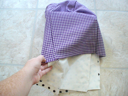 6.  Turn the exterior right-side out and place the lining inside it.