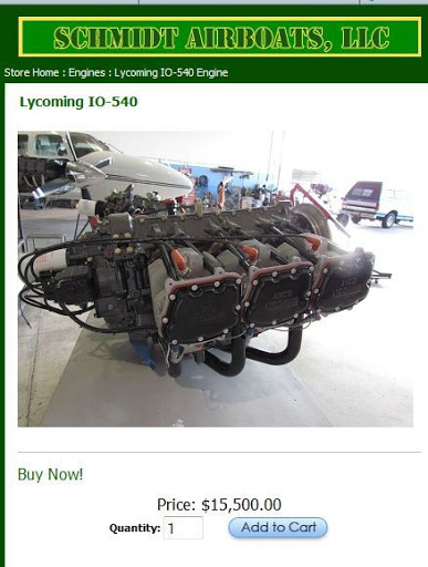 Lycoming O-540 airboat model - Backcountry Pilot