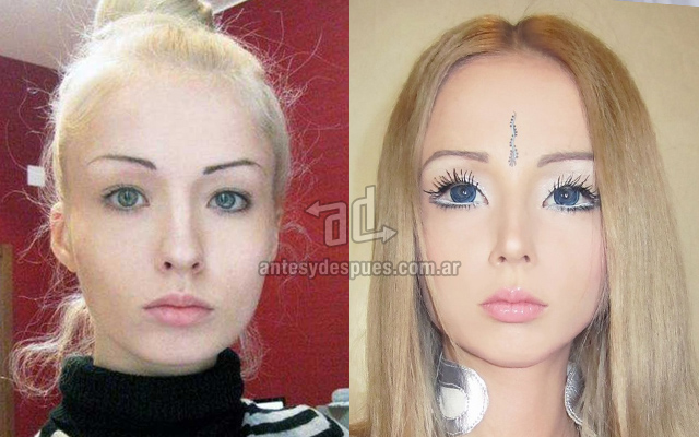 Valerie Lukyanova, real face of barbie?