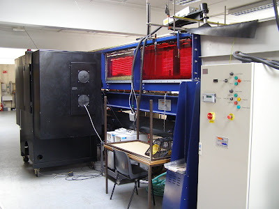 The Armfield custom flume with PIV system at Loughborough University, Department of Geography, Hydraulics Laboratory. Experiments on the movement of gravel by signal crayfish were undertaken in this flume.