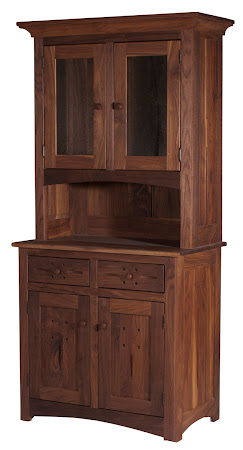 Florence China Cabinet in Natural Walnut