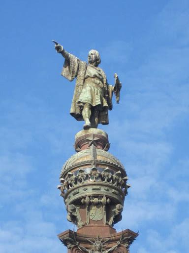 コロンブスの銅像@バルセロナ