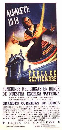 Cartel Feria Albacete 1949