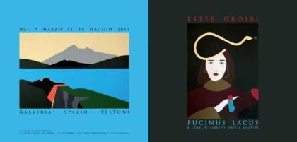 Mostra personale di Ester Grossi - Fucinus Lacus - allo Spazio Testoni di Bologna