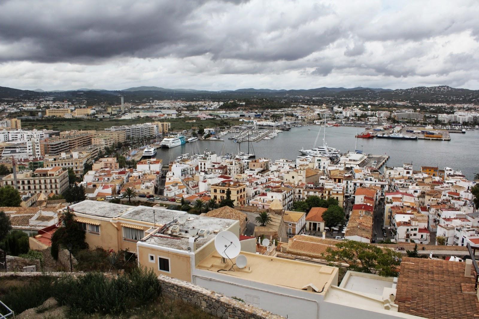 Eivissa, vista des del castell
