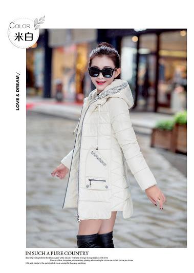 Bộ áo khoác phao bông tự nhiên 4 lớp 2 túi