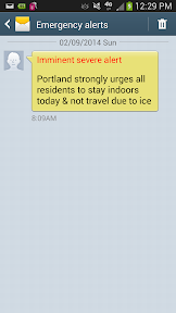 Snowpacalypse PDX in February 2014, Emergency Alert for Portland