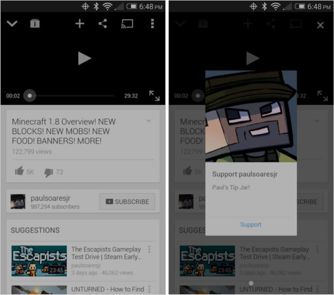 YouTube Spende