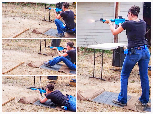 3gun drills Gabby learned from training with some of the Noveske shooting team