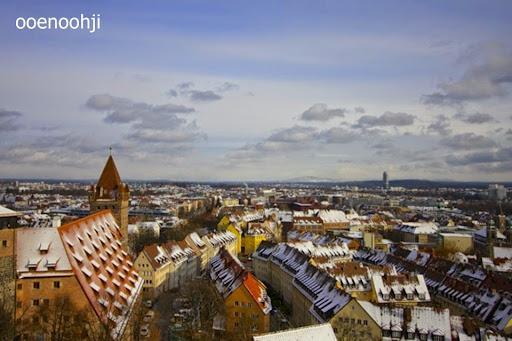 上から見たニュルンベルクの街並み