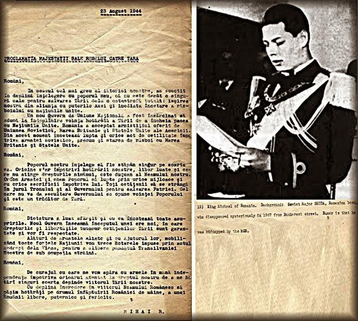 Proclamația Regelui Mihai I către țară, 23 august 1944
