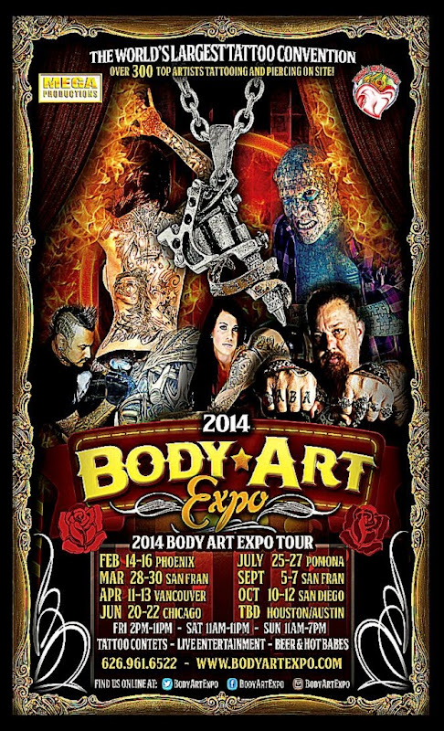Body Art Expo San Francisco Show   September 2014