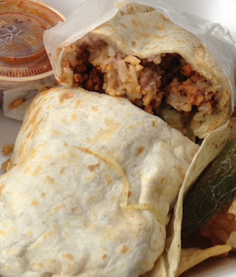 Street food - Adobada burrito
