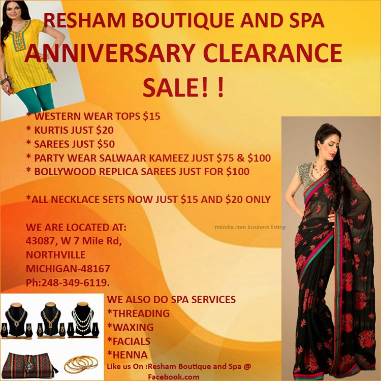 Resham boutique and spa for 56 west boutique and salon