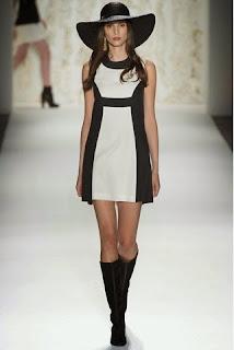 siyah beyaz elbise