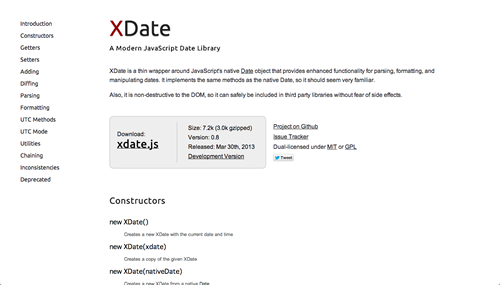 XDate - A Modern JavaScript Date Library