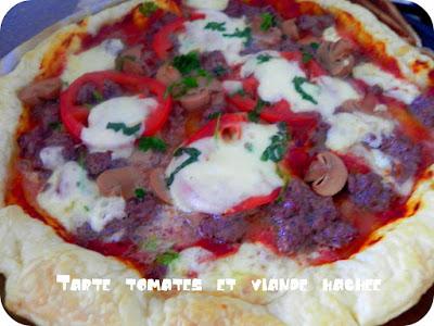 Tarte tomates et viande hachée