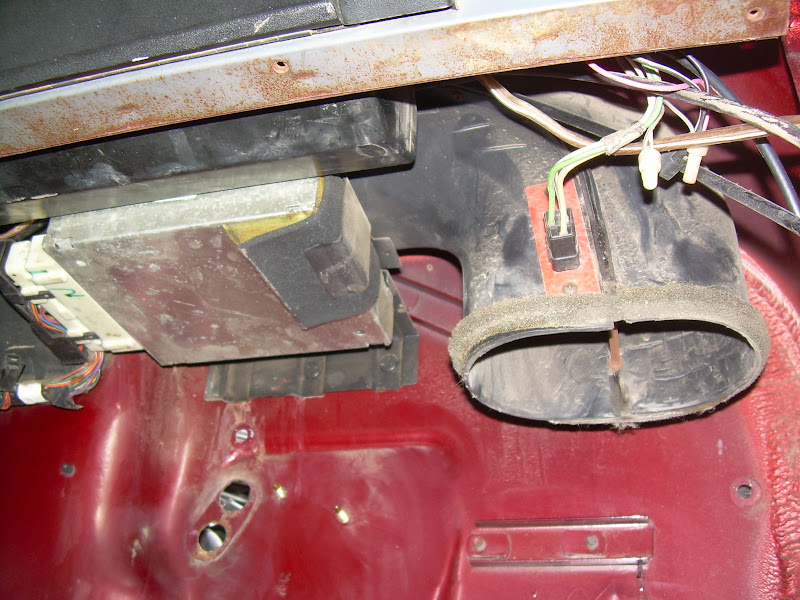 if you want to get the ecm box out of there, i wouldn't pull the dash  you  can pull the heater box and easily get to it  here is a pic of it