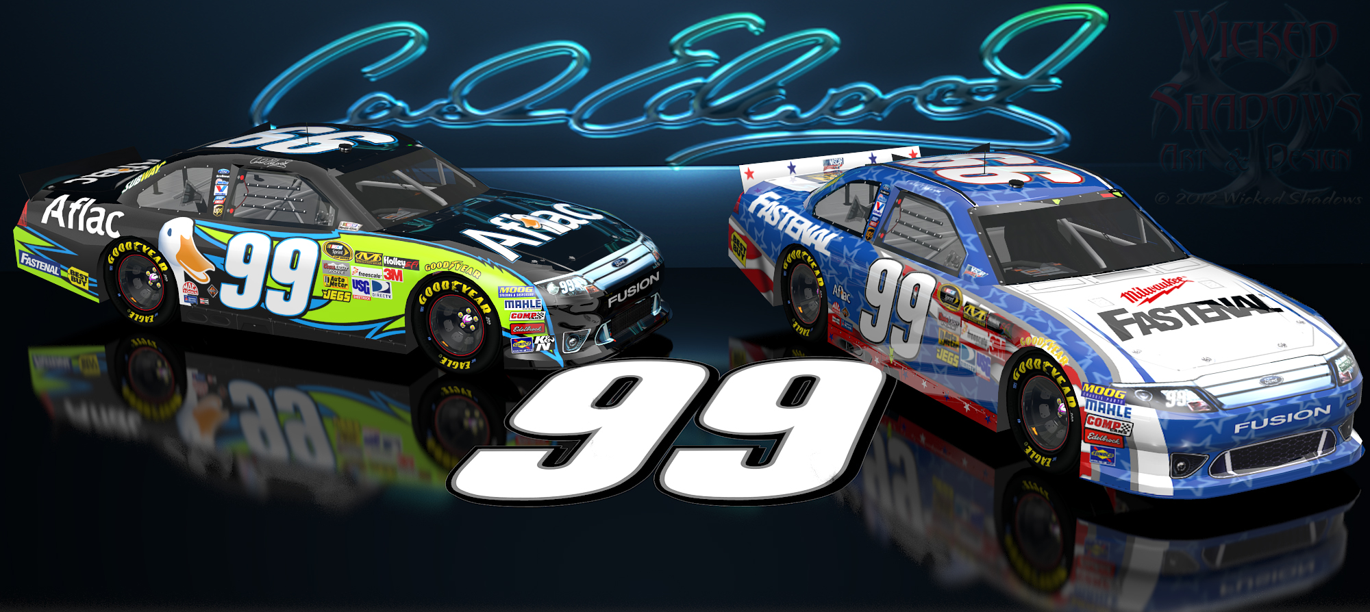 Wallpapers By Wicked Shadows Jimmie Johnson Nascar Unites: Wallpapers By Wicked Shadows: Carl Edwards Aflac Nascar