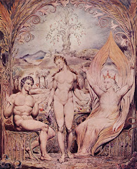 BLAKE, William Raphael Warns Adam and Eve, 1808