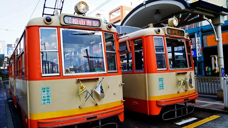 松山 路面電車 写真