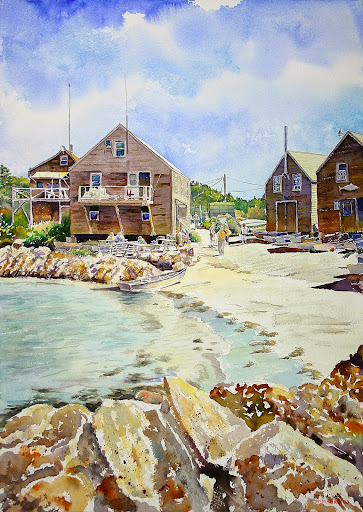 Monhegan Beach. Artist of the Month: Paul McMahan