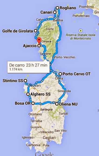 Os Comarriscos vão à Córsega e Sardenha!!! Ilhas