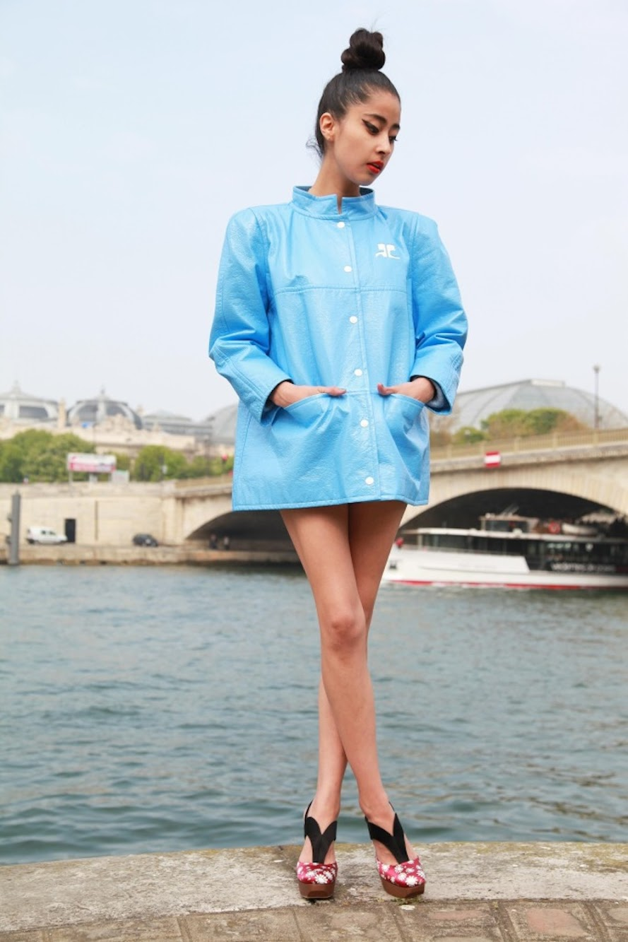 Wearing Vintage [Denni Elias is a Chic Muse in Courreges]