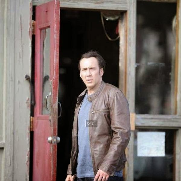 Nicolas Cage in a still from the Hollywood action crime thriller Rage.