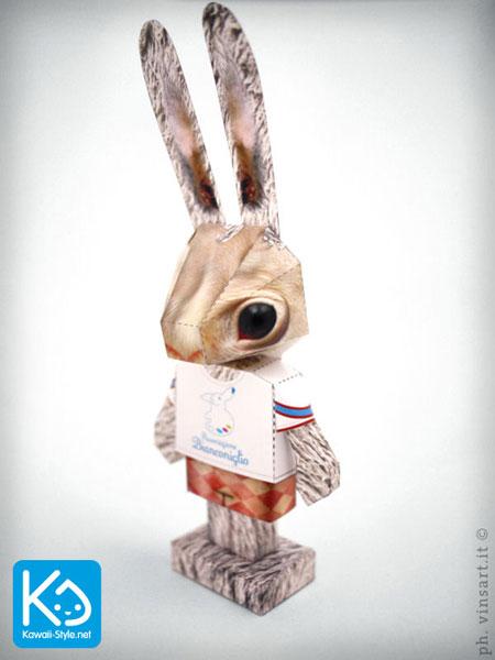 Bianconiglio Bunny Boy Paper Toy