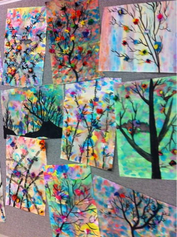 Art at Becker Middle School: Sumi-e Ink Paintings