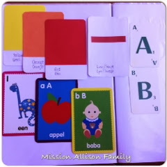 Tot school flash cards letter a, b, number 1, color red, yellow, orange, shape line