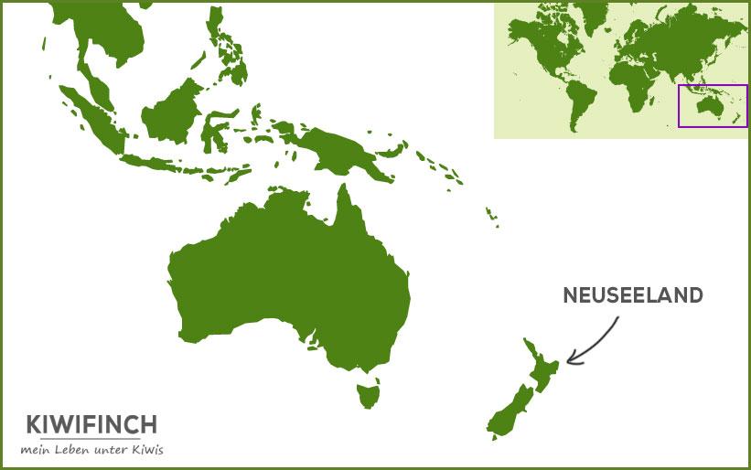 Wo liegt Neuseeland