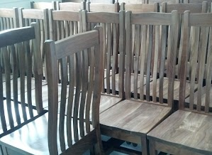 Raised Mission Chairs in Oil & Wax Walnut