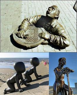 Смешные и забавные скульптуры