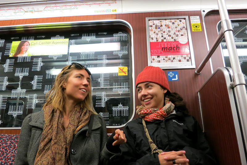 Sky and Alicia on the U-Bahn