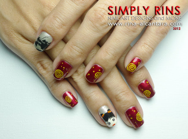 Chinese New Year 2012 Nail Art Design