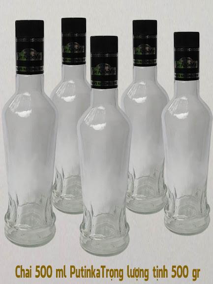 mẫu chai thủy tinh putinak vo chai ngoại