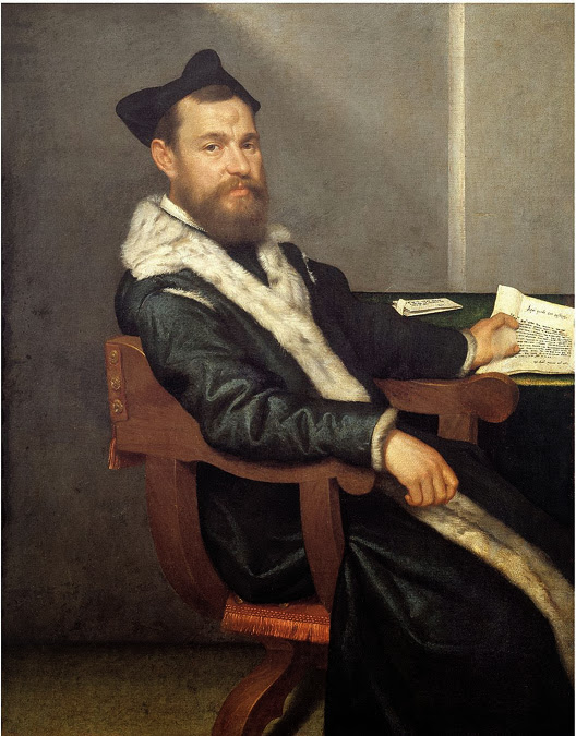 Giovanni Batista Moroni - Portrait of a Doctor (The Magistrate), 1560